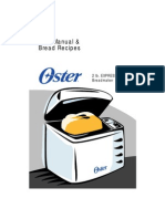 Oster 2lb Express Bake Bread Maker Manual & Recipes