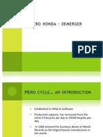 Hero Honda Demerger