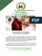 Mensaje en Dìa de las Madres  Presidente COOP-HERRERA 2011
