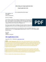 Example Application Letter