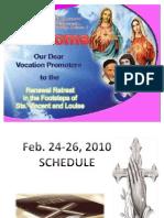 Orientation vincentian retreat