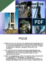 CONSIDERACIONES DE DISEÑO DE PIQUES