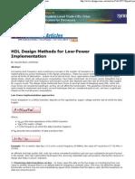 2009 Design Reuse HDL Low Power Design