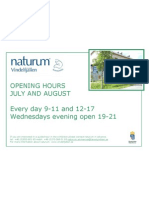 Opening Hours Naturum Juli Aug 2011