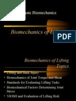 Bio Mechanics of Lifting