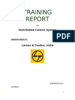 Training Report on Distributed Control System