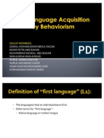 First Language Acquisition Presentation