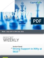 Stock Futures and Options Reports for the Week (11th - 15th July '11)