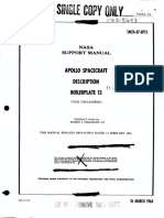 Apollo Spacecraft Description Boilerplate 13
