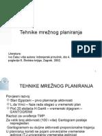 Tehnike mrežnog planiranja