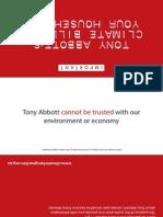 Tony Abbott's climate bill for your household