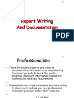 Report Writing and Documentation 1