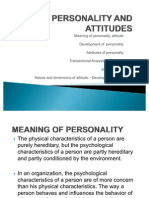 2nd Chapter Personality and Attitude 1