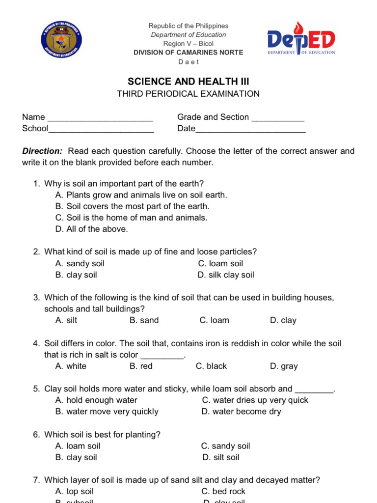 Mathematics Test For Grade 3 - Kidz Activities