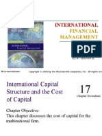 17 International Capital Structure and the Cost of Capital