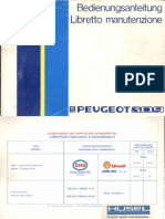 1986 Peugeot 309 Owner's Manual (Switzerland) it/de-ch