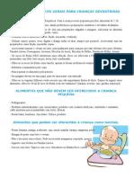 CUIDADOS DIETÉTICOS GERAIS PARA CRIANÇAS DESNUTRIDAS