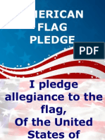 Pledges to Bible and Flags