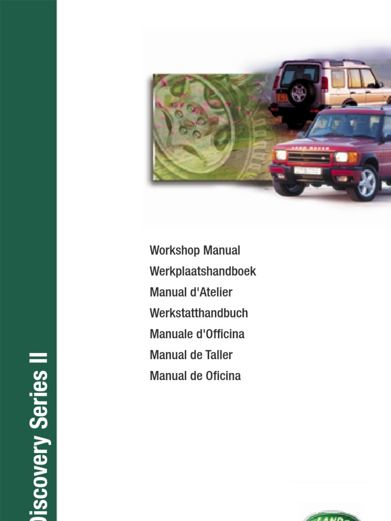 Discovery Series Ii Workshop Manual 3rd Edition Vehicle Audi 20 Tdi Pd Injector Wiring Loom With Glow Plug Connections Technology Parts