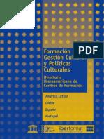 Formación en Gestión Cultural y políticas culturales