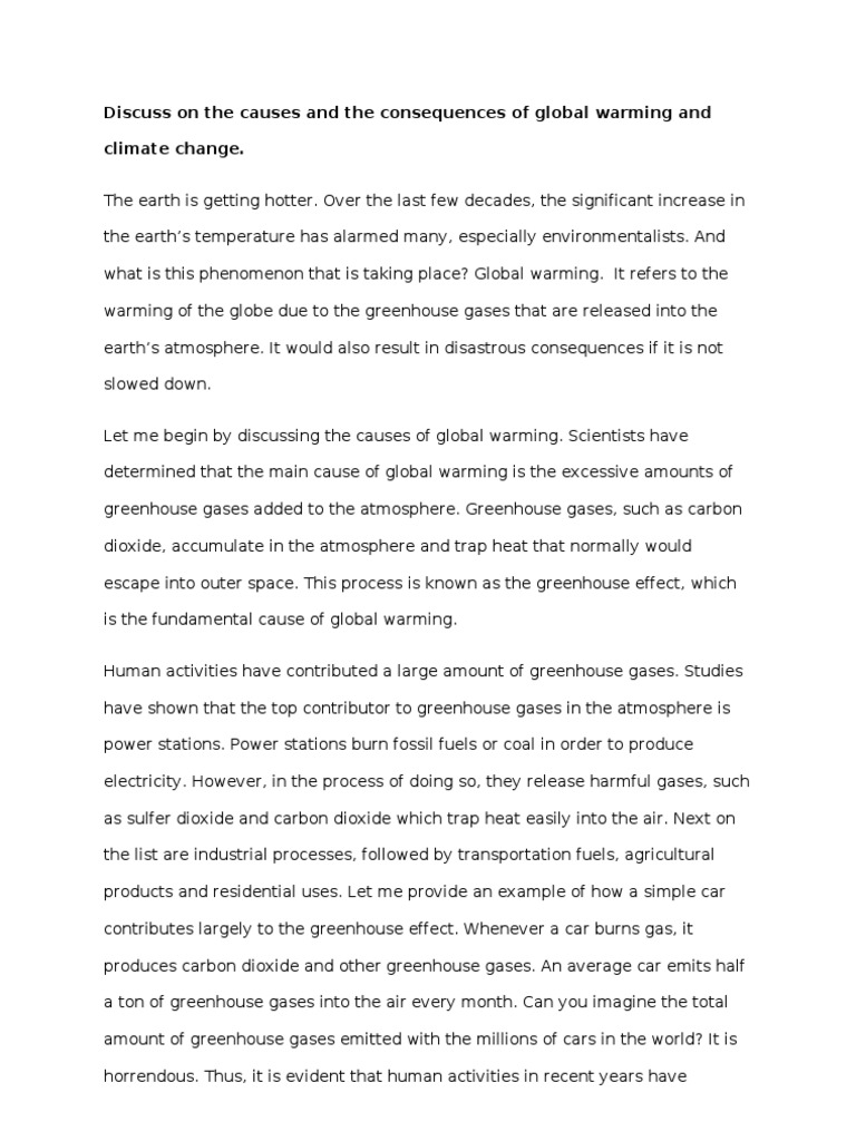 Expository Essay - Global Warming 2 | Greenhouse Effect | Global Warming