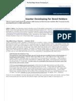 The Next Major Disaster Developing for Bond Holders - Elliott Wave International