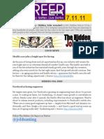 The Hidden Job Report for 7.11.11