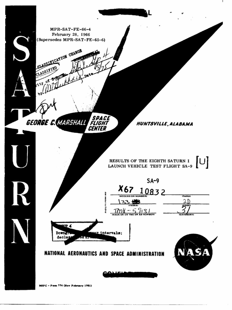 Results Of The Eighth Saturn I Launch Vehicle Test Flight Sa 9 Chattanooga M2 Wiring Diagram V Instrument Unit