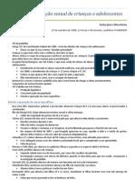 Carlos José e Silva Fortes - Abusos e exploração sexual de crianças e adolescentes