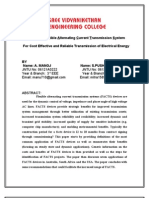 A PAPER on Flexible AC Transmission System