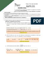 Examen Final DE FUNCIONES