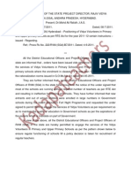 Spd Guidelines on Vv Appointment Dt8-7-2011 in primary UP schools