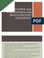 Factores que predisponen una infección post Quirúrgica