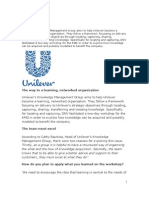 Example - Unilever as a Learning ion