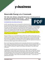Renewable Energy at a Crossroads - Booz Allen
