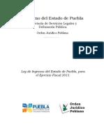 Ley de Ingresos Del Estado de Puebla Para El Ejercicio Fiscal 2011