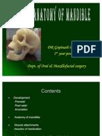 Surgical Anatomy of Mandible Dept