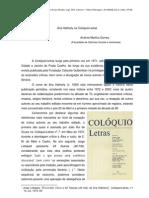 Ana Hatherly na Colóquio/Letras