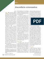 Liposomal doxorubicin extravasation