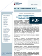 Aprobación presidencial, municipal, desempeño de Humala y de los medios