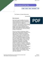 Koenraadelst.bharatvan.org - The Problem of Christian Missionaries