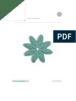 ganchillo - flor 8 petalos