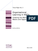 Praxis Paper 3 Organisational Learning in NGOs