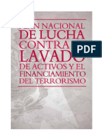 Plan de Lucha en Contra Del Lavado de Activos y El to Al Terrorismo