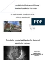 Nerve Injuries following Acetabular Fractures
