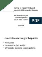 Heparin Induced Thrombocytopenia