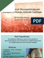 Glycosaminoglycan Variation in Human Cartilage