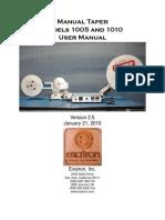 Models 1005 & 1010 Manual