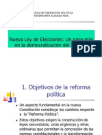 Propuesta de Nueva Ley Electoral Virgilio Hernandez