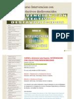Curso Intervencion Con Colectivos Desfavorecidos